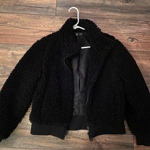 zara fluffy jacket